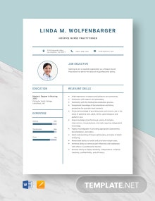 Hospice Nurse Practitioner Resume Template
