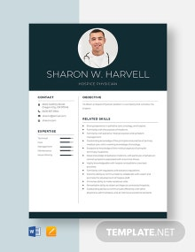 Hospice Physician Resume Template