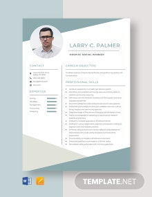 Hospice Social Worker Resume Template