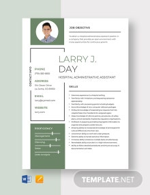 Hospital Administrative Assistant Resume Template