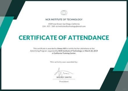 Free Event Attendance Certificate Template in Adobe ...