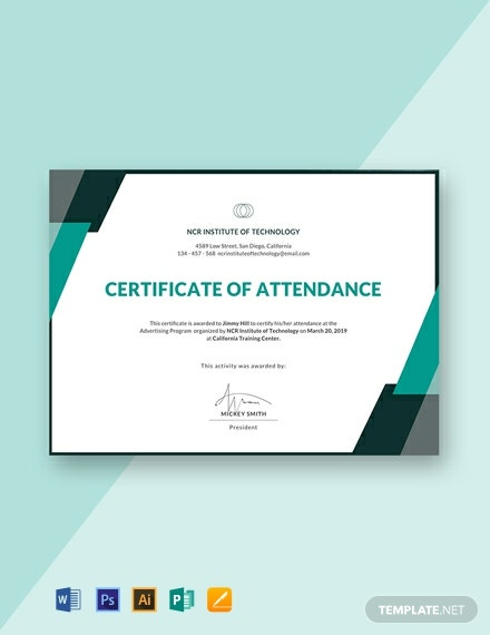 Free-Event-Attendance-Certificate-Template-440x570-1 October Employee Free Word Newsletter Templates on for spring,