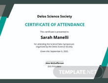 Free Event Attendance Certificate Template