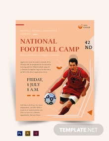 Free Elegant Football Camp Flyer Template