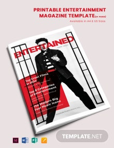 Free Printable Entertainment Magazine Template