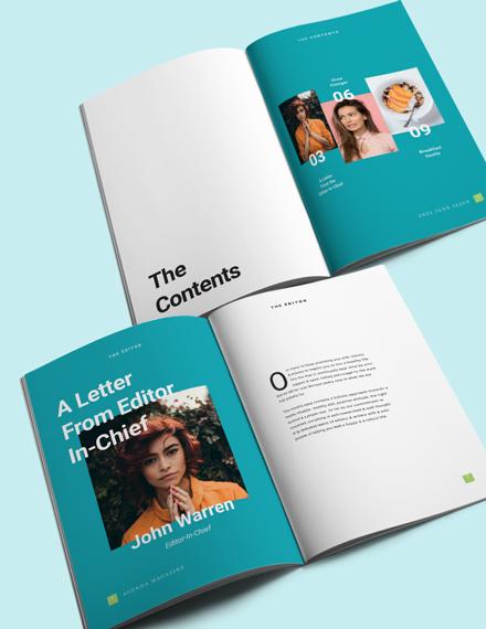 Printable Health Magazine Template