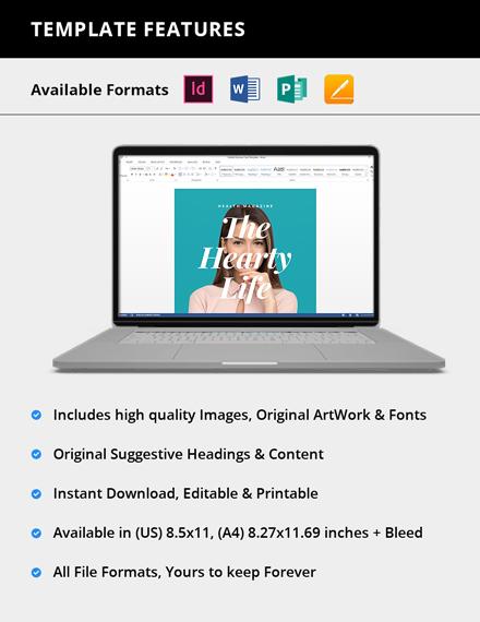 Simple Printable Health Magazine
