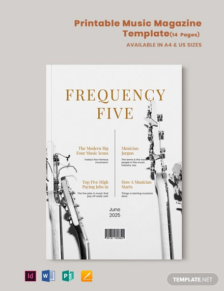 Free Printable Music Magazine Template