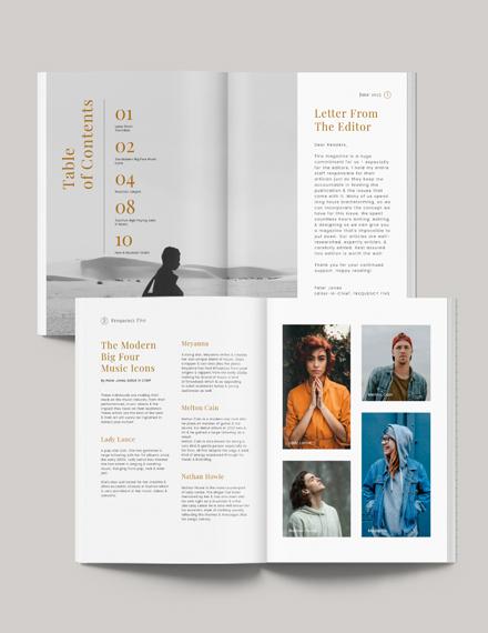 Printable Music Magazine Template