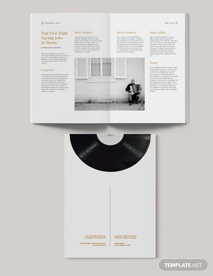 Sample Printable Music Magazine
