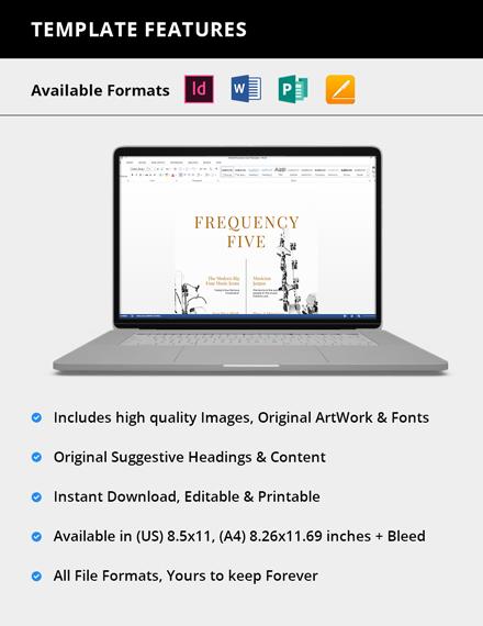 Simple Printable Music Magazine