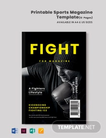 Free Printable Sports Magazine Template