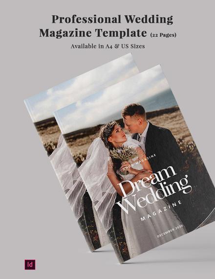 professional wedding magazine
