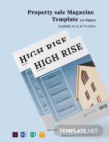 Property Sale Magazine Template