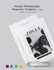 Free Sample Photography Magazine Template