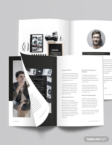 Sample Photography Magazine Template