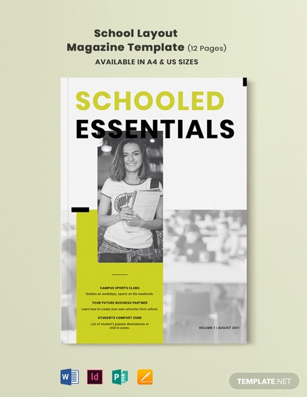 School Layout Magazine Template