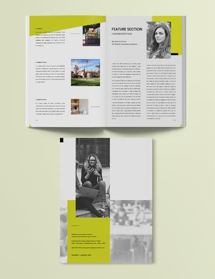 Sample School Layout Magazine