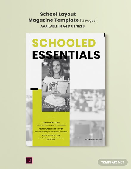 school layout magazine