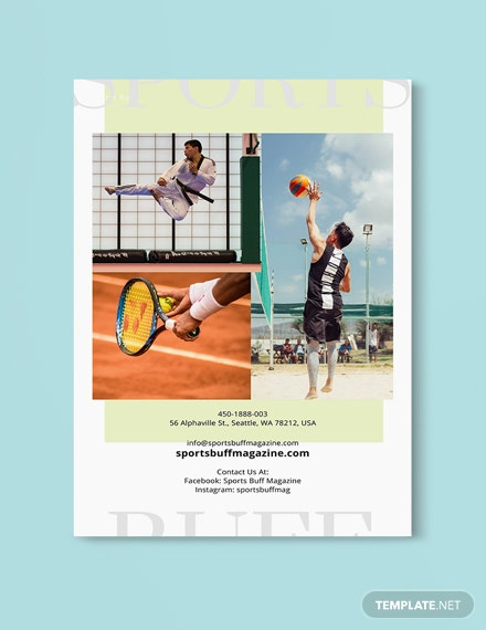 School Sports Magazine Template [Free Publisher] - InDesign, Word, Apple Pages