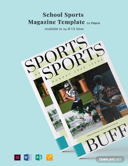 School Sports Magazine Template