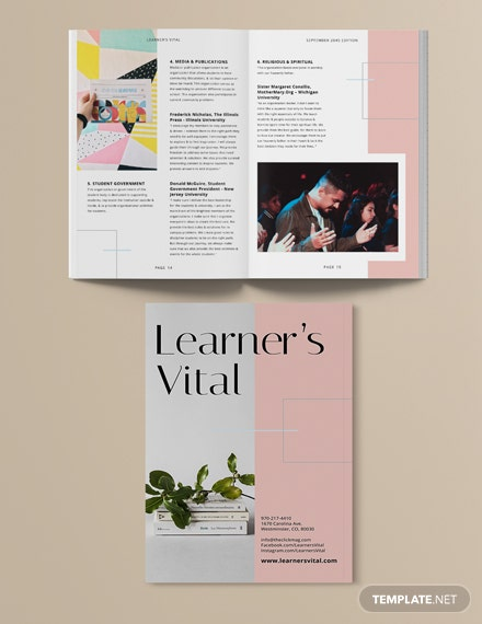 Sample School Workbook Magazine