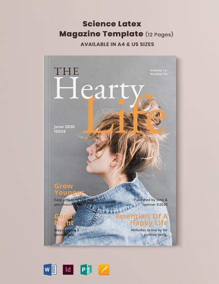 Science Latex Magazine Template