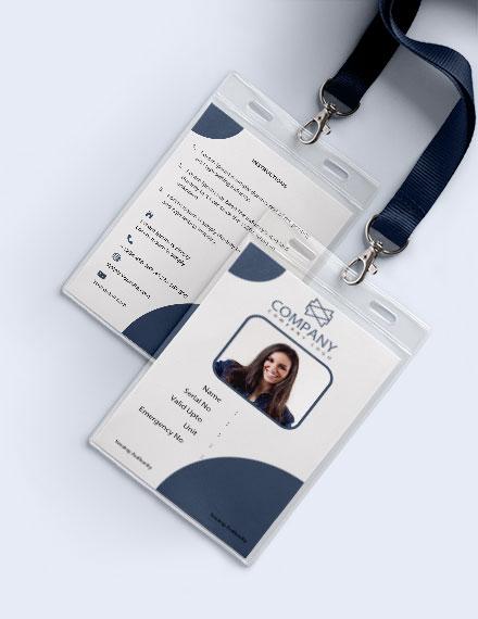 Free Basic Blank ID Card Template