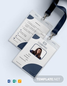 Free Basic Blank ID Card Template