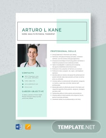 Home Health Physical Therapist Resume Template