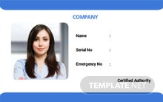 Company Blank ID Card Template