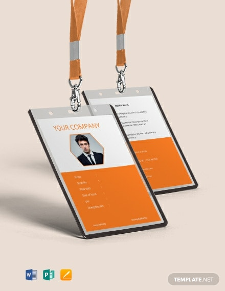 Free Corporate Blank ID Card Template