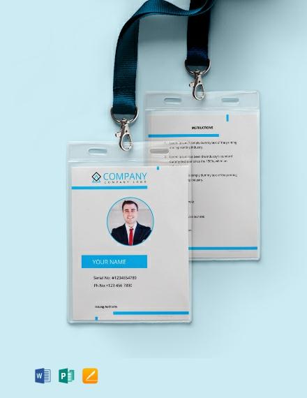 Free Modern ID Card Template