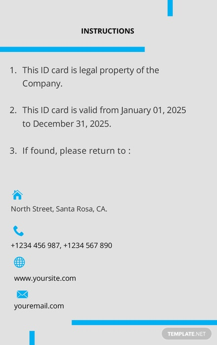 modern id card template download 128 cards in word pages