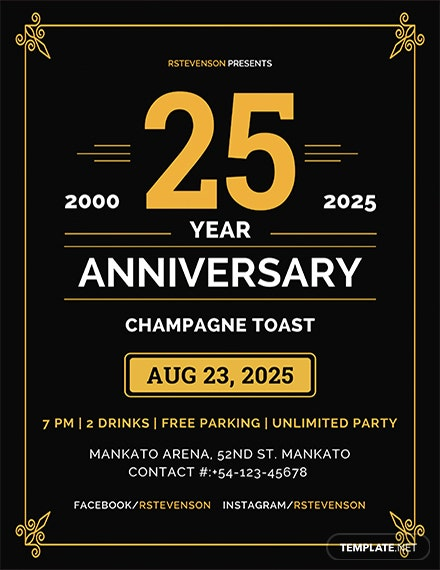 anniversary flyer template 1