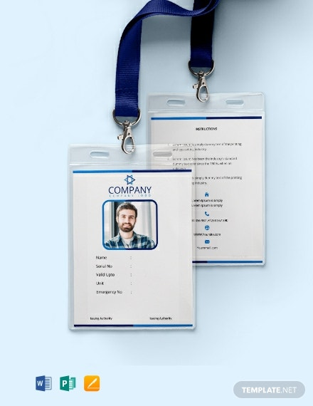 free office blank id card template
