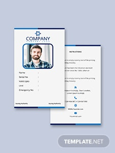 Office Blank ID Card Template