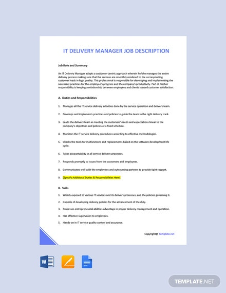 Free IT Security Manager Job Ad and Description Template