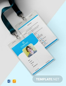 Free Photo Blank ID Card Template