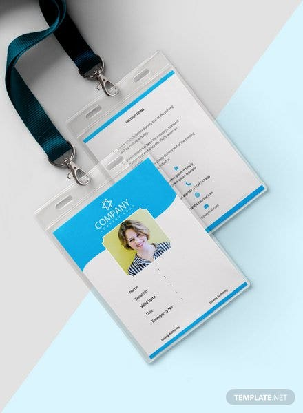 Photo Blank ID Card Template