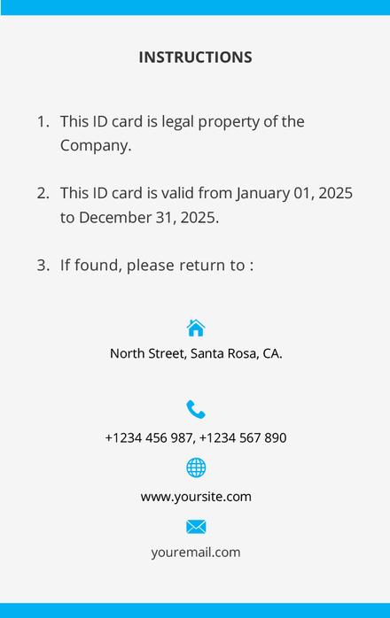 Photo Blank ID Card Template