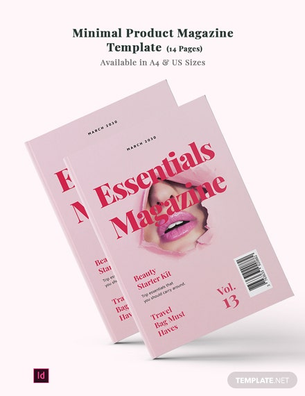 Minimal Product Magazine Template