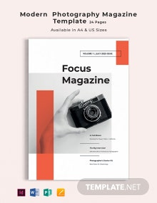 Free Modern Photography Magazine Template