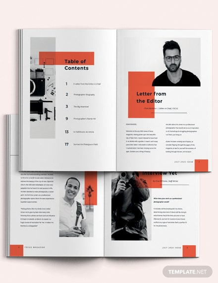 Modern Photography Magazine Template