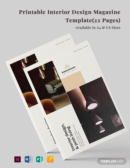Free Printable Interior Design Magazine Template