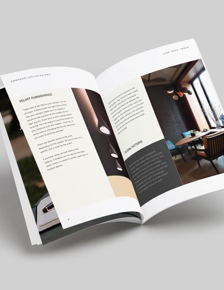 Printable Interior Design Magazine Download
