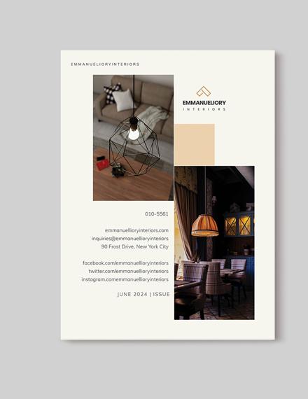 Sample Printable Interior Design Magazine