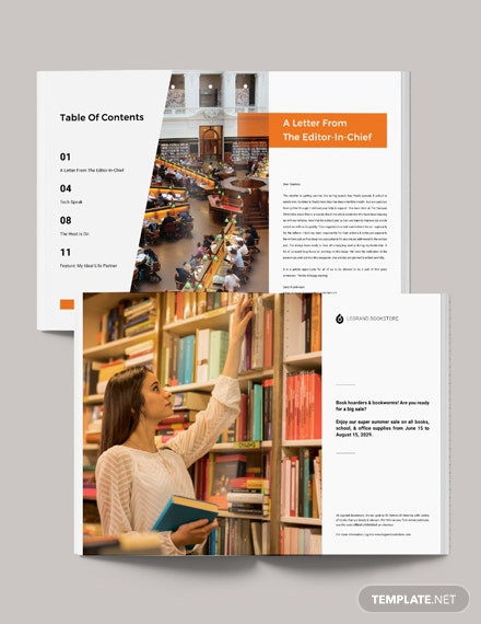 Printable School Magazine Template