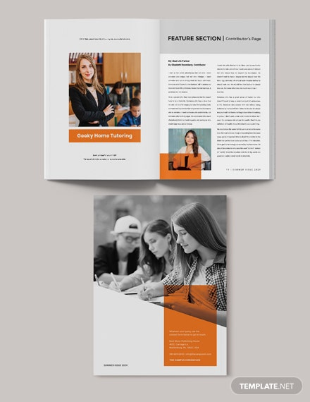 Sample Printable School Magazine