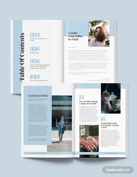Real Estate Agency Magazine Template